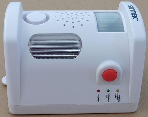 Для контроля за работой прибора предусмотрена светодиодная панель рядом с кнопкой управления (увеличение по нажатию)