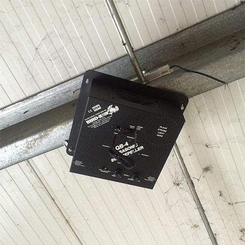 """Пример размещения отпугивателя """"QuadBlaster QB-4"""" на складе"""