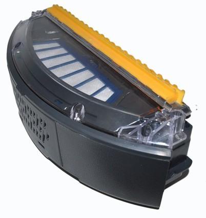 """Мусоросборник  робота-пылесоса """"310B"""" с установленным фильтром"""