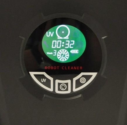 Кнопки управления и цифровой дисплей на верхней панели пылесоса