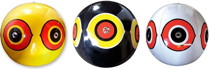 Комплект из 3 виниловых шаров с глазами хищника