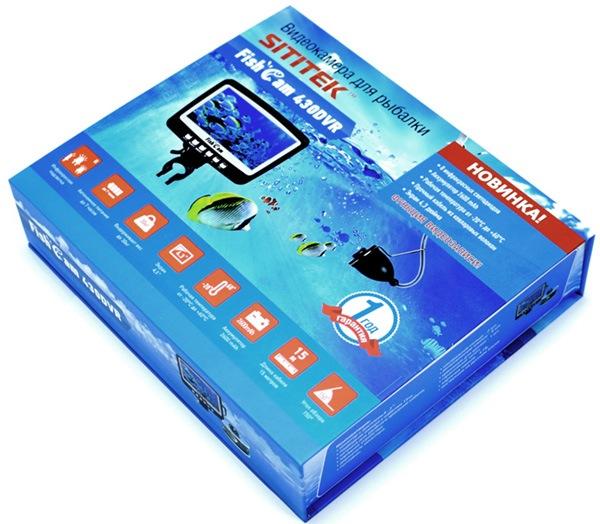 Видеокамера для рыбалки SITITEK FishCam-430 DVR со всеми комплектующими упакована в красивую и прочную коробку
