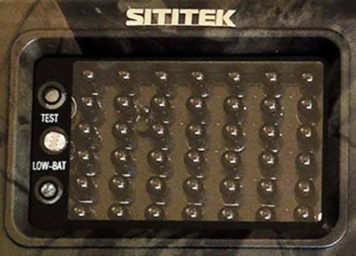 Для ночной подсветки на передней панели встроены 42 ИК-светодиода