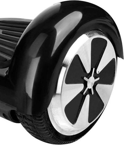 """Колеса гироскутера """"SLX-001"""" надежно защищены от грязи, пыли и осадков солидными крыльями"""