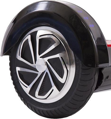 """Колеса гироскутера """"SLX-006 Transformers Audio+LED"""" надежно защищены от грязи, пыли и осадков солидными крыльями"""