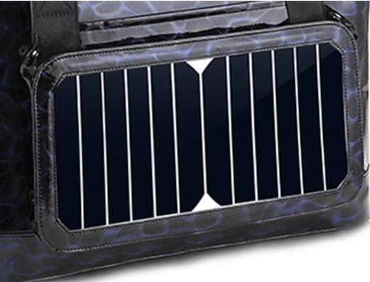 Солнечная батарея расположена на стенке сумки