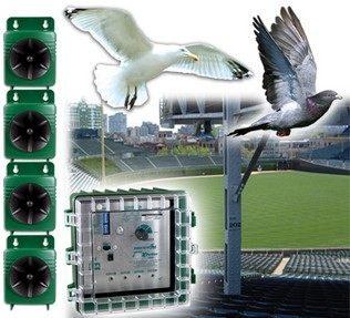 """Благодаря большой площади покрытия отпугиватель """"Super BirdXPeller PRO"""" можно использовать даже на небольших стадионах"""