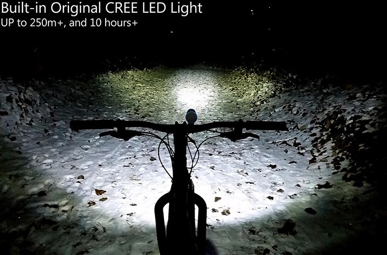 Встроенный фонарь может служить мощной фарой для велосипеда или мопеда (нажмите на фото, чтобы увеличить)