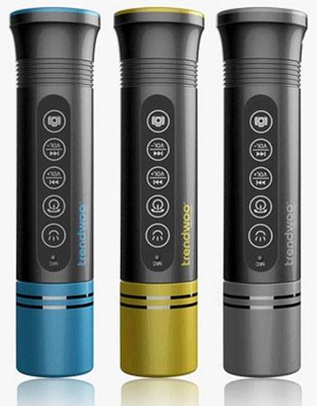 Колонка производится в корпусах синего, темно-желтого и серого цвета