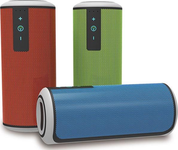 Выбирайте стереоколонку Вашего любимого цвета с оранжевым, зеленым или голубым корпусом (нажмите на фото, чтобы увеличить)