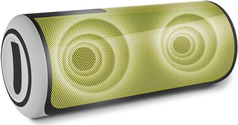 Устройство оборудовано двумя динамиками диаметром по 40 мм, которые обеспечивают стереофоническое воспроизведение звука (нажмите на фото, чтобы увеличить)