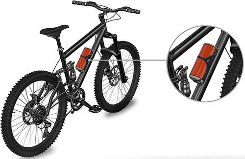 Колонку удобно использовать на раме велосипеда (нажмите на фото, чтобы увеличить)