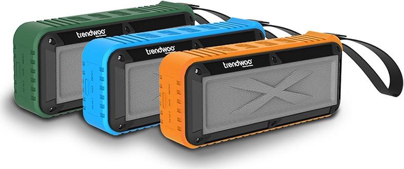 """Bluetooth-колонки """"Trendwoo Rockman L"""" выпускаются в корпусах зеленого, голубого и оранжевого цвета (нажмите на фото, чтобы увеличить)"""