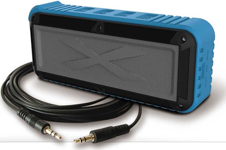 Для подключения колонки к устаревшим носителям аудиофайлов в комплекте поставки имеется аудиокабель с разъемами 3,5 мм (нажмите на фото, чтобы увеличить)
