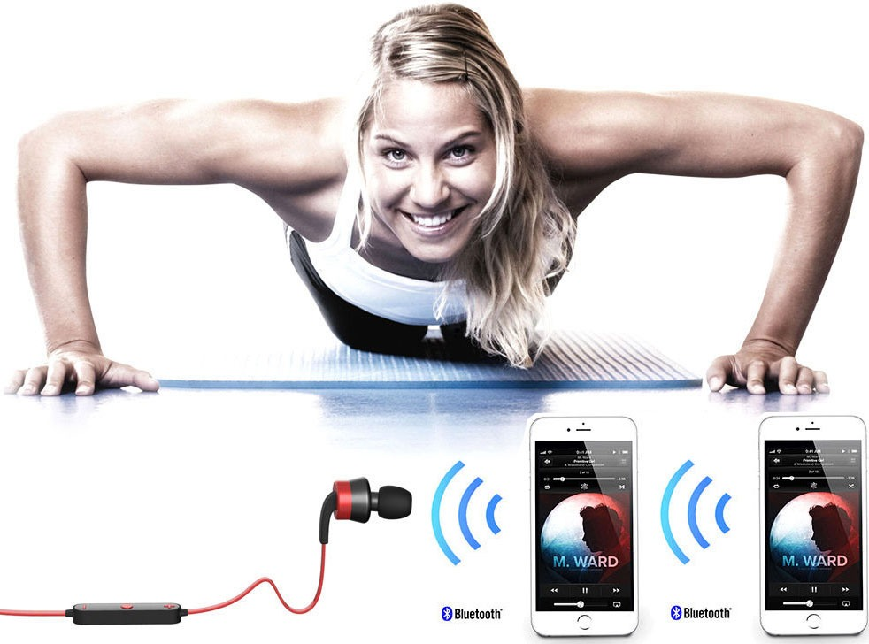Гарнитура Trendwoo Bluetooth Runner X9 Red