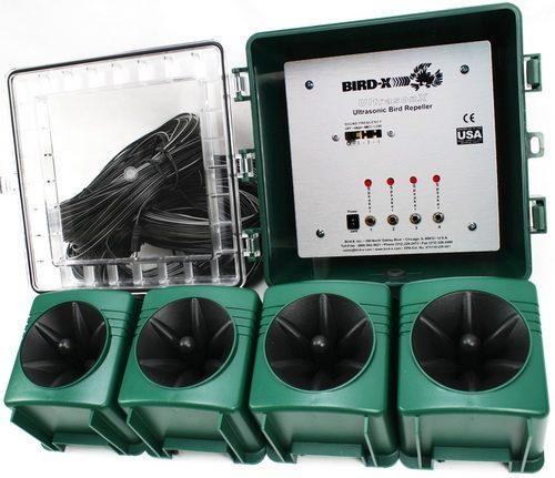 Блок управления и динамики ультразвукового отпугивателя птиц