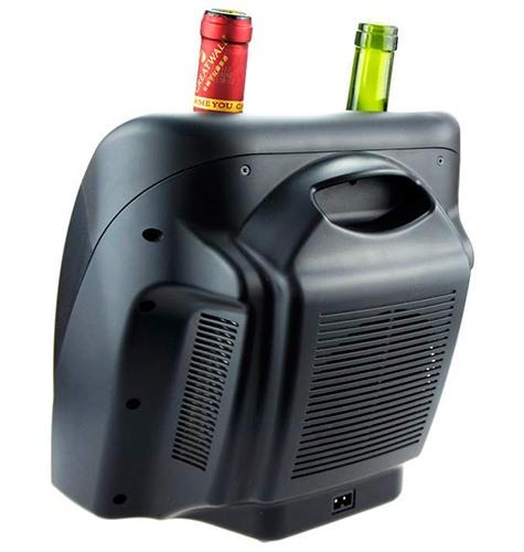 Для охлаждения или нагрева  вина используется термоэлектрический элемент Пельтье, обдуваемый бесшумным вентилятором