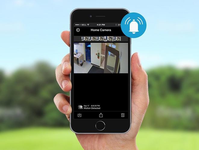Если сработает датчик движения, Вы получите уведомление на свой смартфон