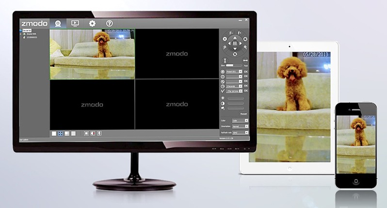 Просматривайте видео с камер на мониторе, планшете или смартфоне