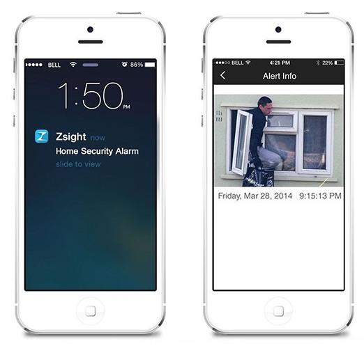 Если сработает датчик движения, Вы получите уведомление на свой смартфон  (нажмите на изображение, чтобы увеличить)