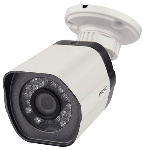 """Камеры из видеокомплекта """"Zmodo PoE Улица"""" соединяются с регистратором посредством сетевого кабеля через разъем RJ45, что обеспечивает высокую надежность связи"""