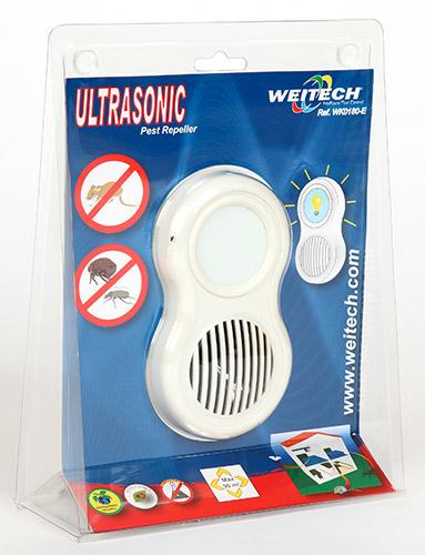 Ультразвуковой отпугиватель грызунов и насекомых Weitech WK0180 в упаковке