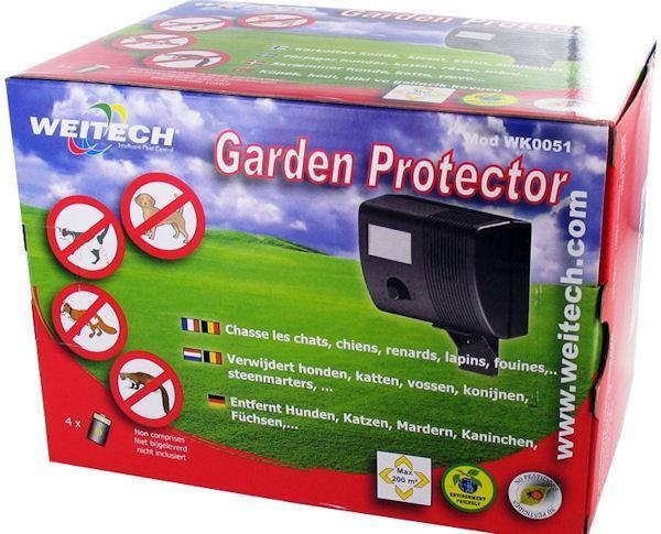 Ультразвуковой отпугиватель собак Weitech WK0051 Garden Protector в упаковке