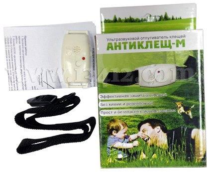 Комплект поставки ультразвукового отпугивателя клещей Антиклещ М
