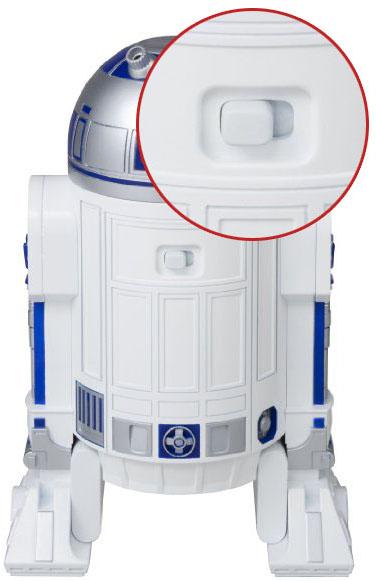 Переключатель, с помощью которого можно включить устройство, находится на тыльной стороне корпуса
