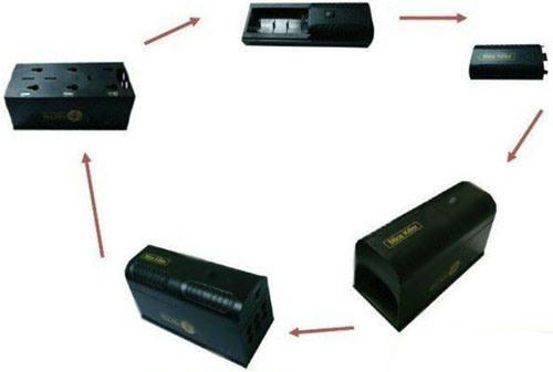 Схематическое представление последовательности сборки электронной мышеловки Antirats-190