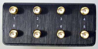 """Каждая антенна подавитель связи """"Страж Мини 4G"""" присоединяется строго к своему гнезду, для чего разъемы помечены цифрами"""