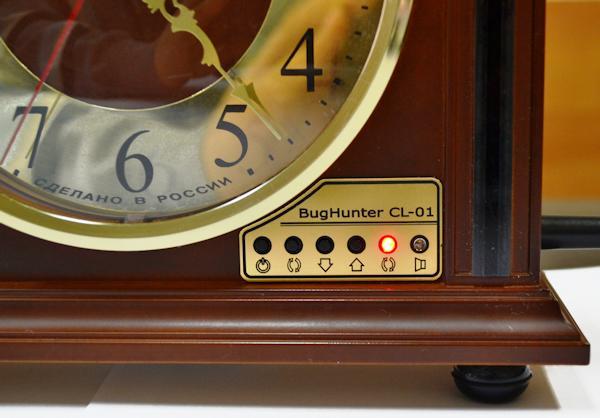 Лицевая панель БагХантер CL-01: циферлат часов, с 4 кнопки управления и 2 светоиндикатора