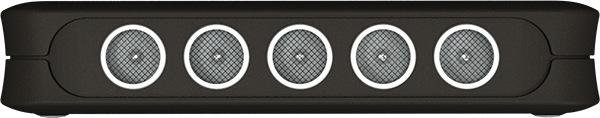 """Пять внутренних антенн  подавителя """"BugHunter DAudio bda-1"""" излучают ультразвуковой сигнал беспрецедентной по сравнению с аналогичными устройствами мощности"""