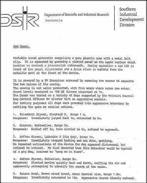 Официальное письмо из Department of Scientific and Industrial Research, Australia