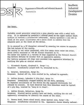 Официальное письмо из Департамента научных и промышленных исследований Австралии