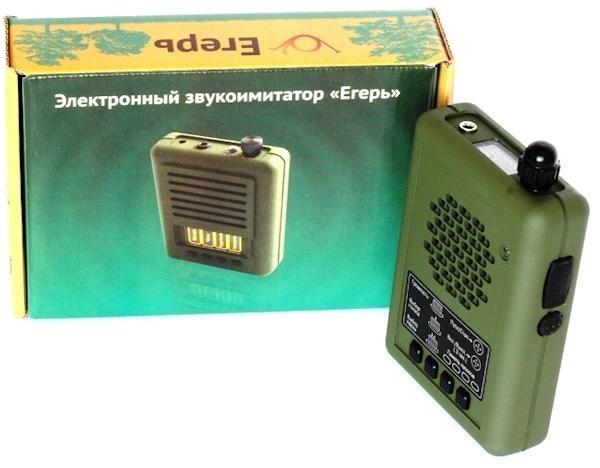 """Электронный манок """"Егерь-55"""" рядом с упаковкой"""