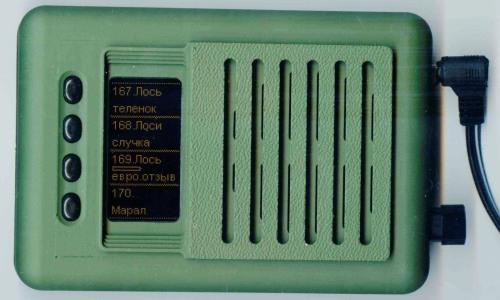"""Электронный манок на утку """"Егерь-6М"""" с подключенным внешним источником питания"""