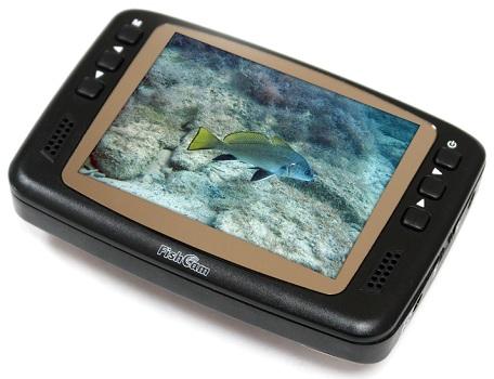"""Кнопки для управления параметрами изображения расположены на передней панели монитора рыболовной видеокамеры """"FishCam-501"""" (нажмите на фото для увеличения)"""