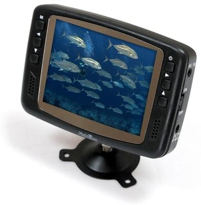 """Экран рыболовной видеокамеры """"FishCam-501"""" устанавливается на держатель, который позволяет поворачивать его по двум осям, что очень удобно в условиях рыбалки"""