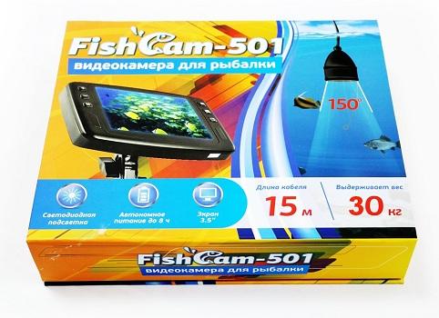 """Видеокамера """"FishCam-501"""" поставляется в яркой коробке (нажмите на фото для увеличения)"""