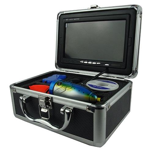 Видеокамера, монитор и другие аксессуары упакованы в алюминиевый кейс