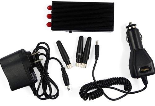 Комплектация портативного глушителя сотовых телефонов GSM, 3G