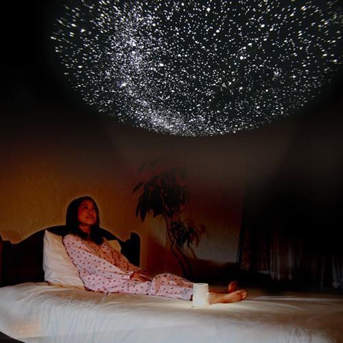 С планетарием HomeStar Aqua Вы можете создать неповторимую сказочную атмосферу в спальне...