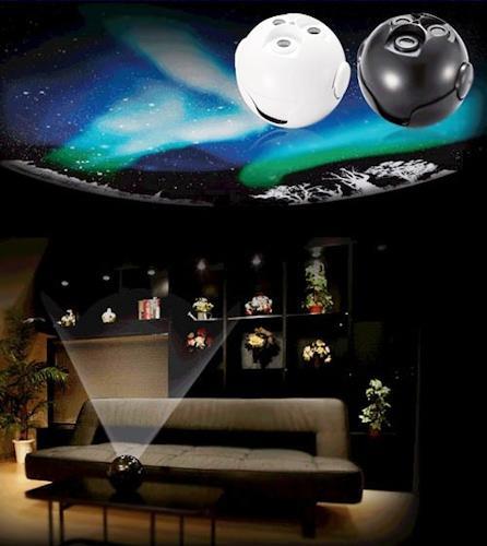 Домашний планетарий HomeStar Aurora Alaska может работать повсюду, где имеется горизонтальная поверхность для установки и экран соответствующих размеров, например, потолок