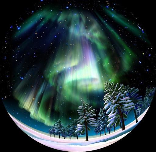 С помощью планетария Homestar Earth Theater Вы увидите потрясающее зрелище - северное сияние