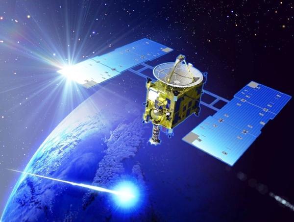 Кадр из видеофильма о путешествии японского спутника