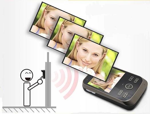 Беспроводной видеодомофон KIVOS фотографирует всех, кто воспользовался кнопкой звонка