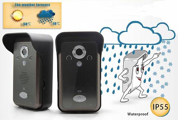Вызывная панель видеодомофона KIVOS может спокойно работать под воздействием солнечных лучей, дождя и пыли