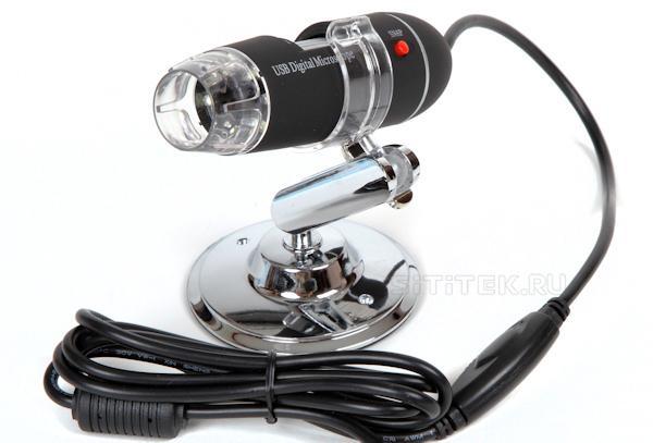 Микроскоп Микрон-400 подключается к компьютеру через порт USB 2.0
