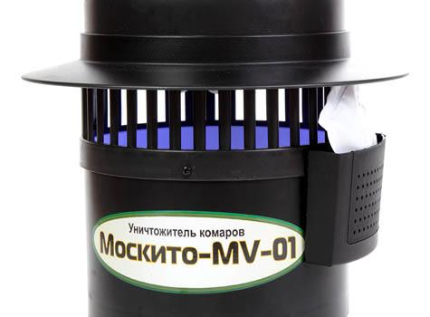 Сбоку корпуса уничтожителя Москито MV-01 находится отсек для приманки Октенол (увеличение по клику)
